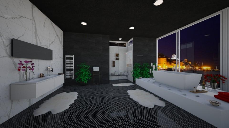 Dark Bathroom - Bathroom - by Dragana2212