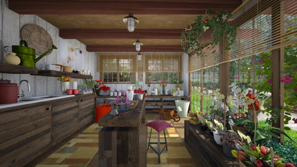 Garden Shed - Garden - by Joao M Palla