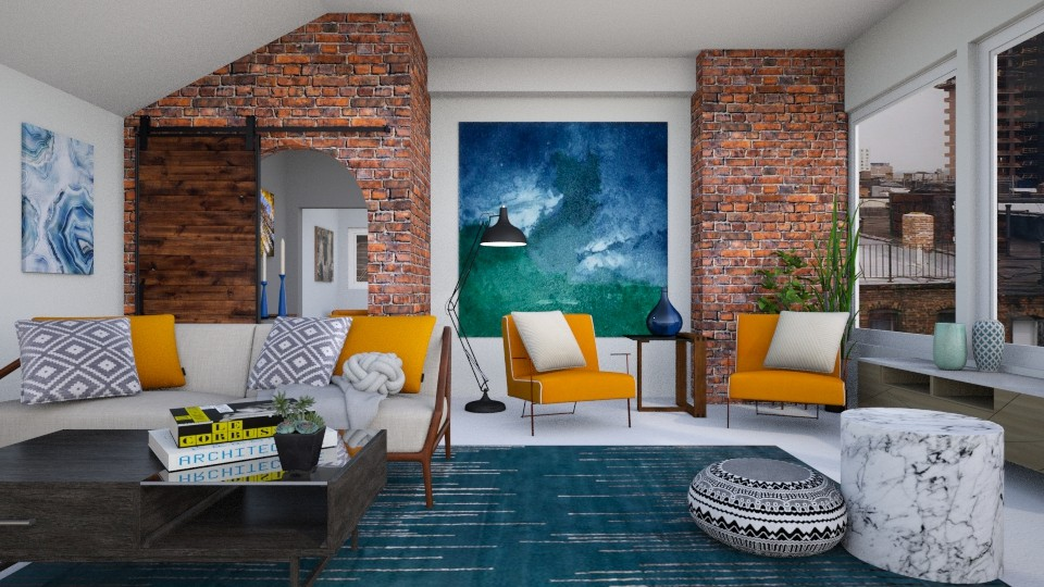 Yellow Chairs Contest - Living room - by Brianna_322
