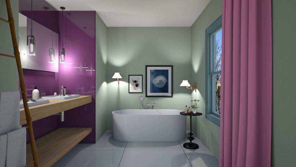 PurpleGreenPink Bathroom - Modern - Bathroom - by 3rdfloor