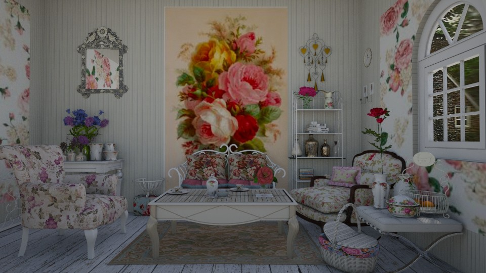 flower inspiration - Vintage - Living room - by snjeskasmjeska