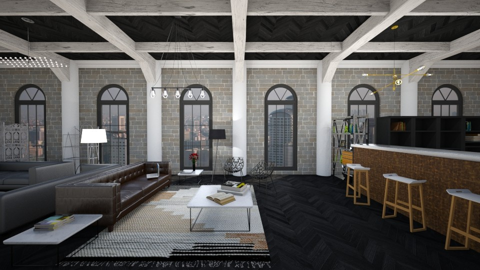 loft - Living room - by tharinrat