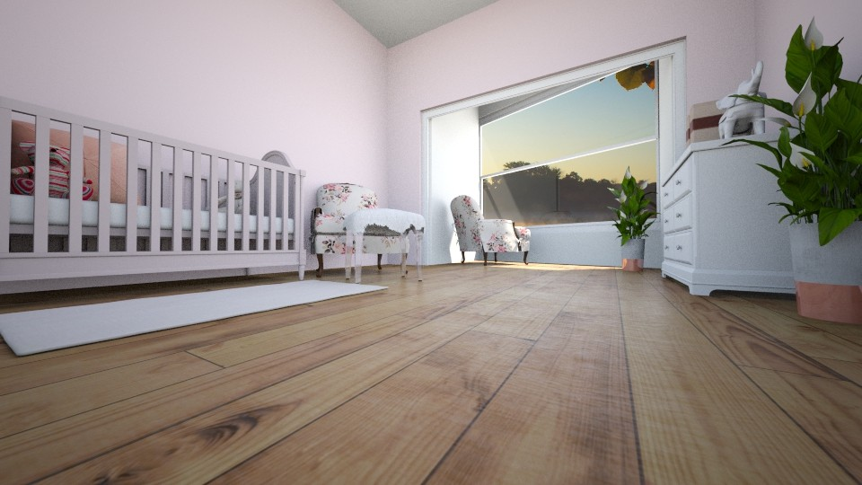 Pink Nursery - Kids room - by TheONE_Rose