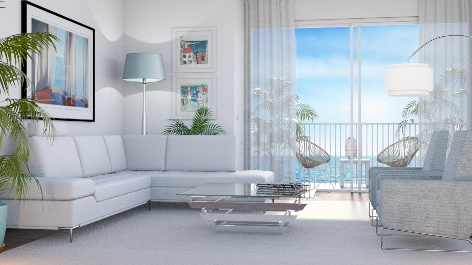 At the Beach - Living room - by GraceKathryn