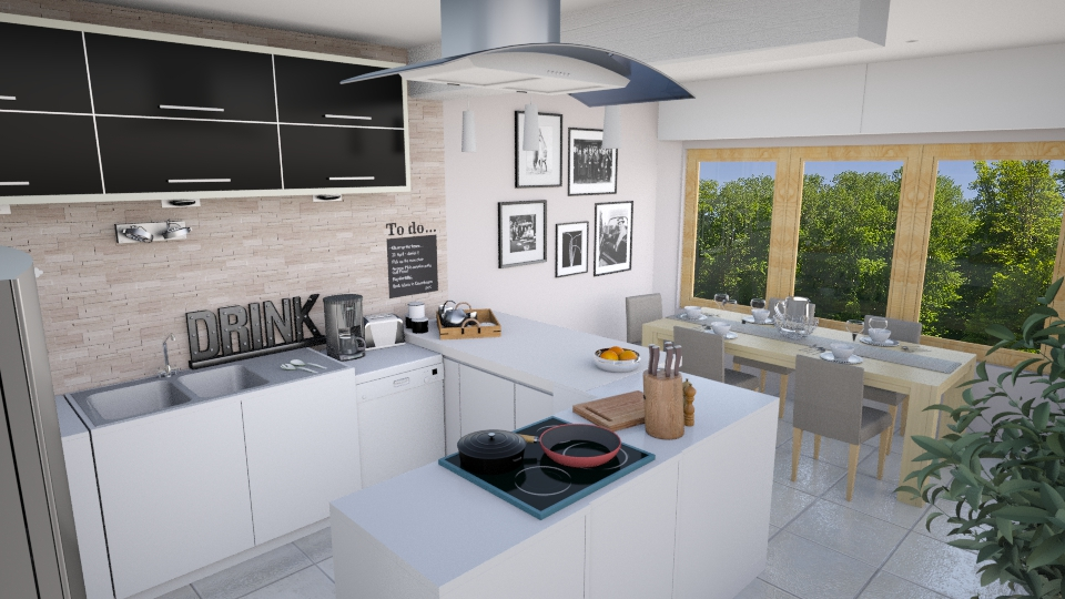Family s kitchen - Kitchen - by Mandine