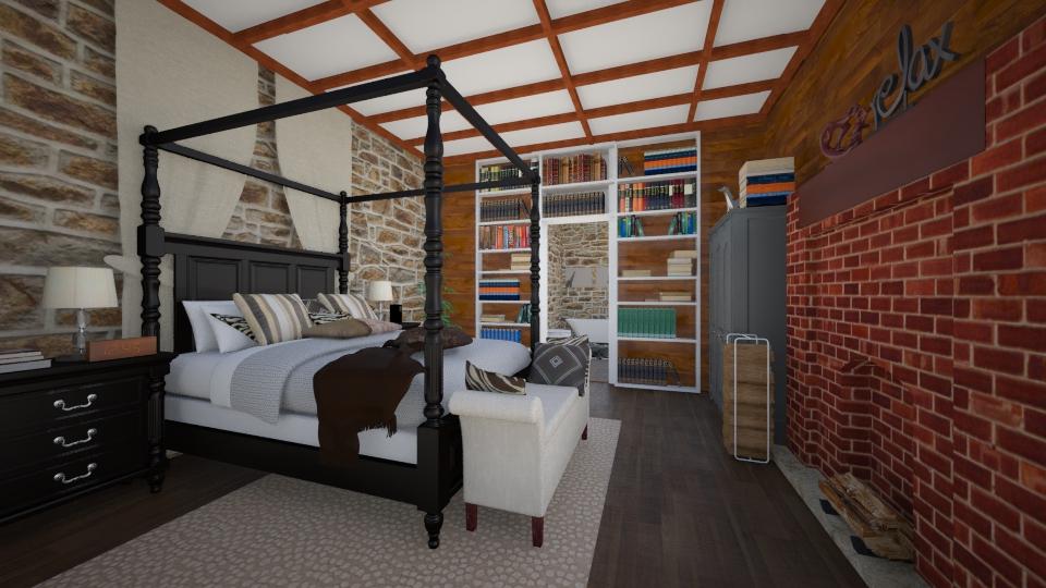 Warm Cozy Bedroom #2 - Bedroom - by nellica