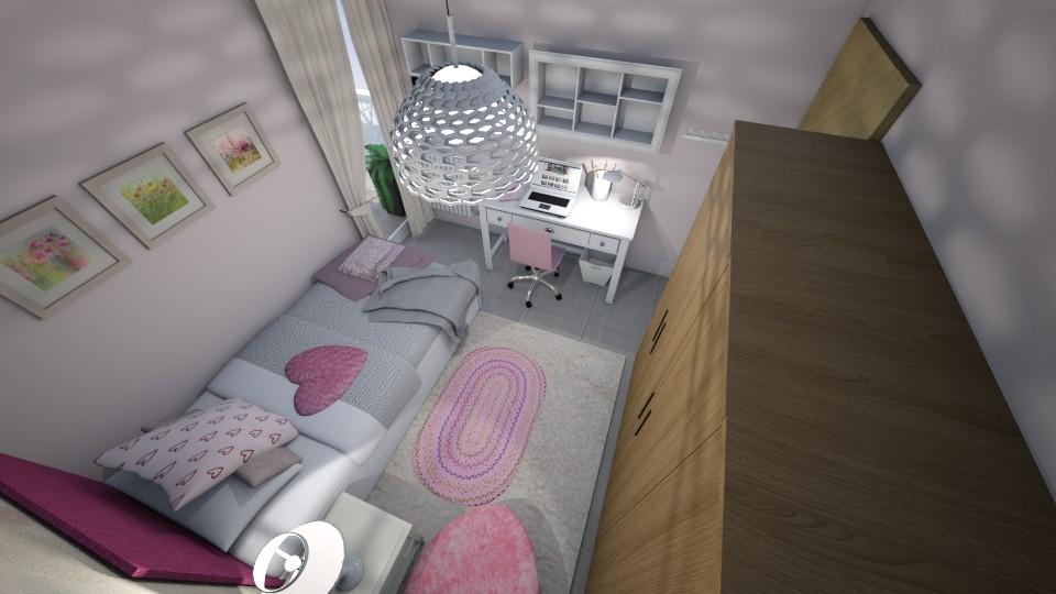 Romantic Pink - Kids room - by Georgia Perrou