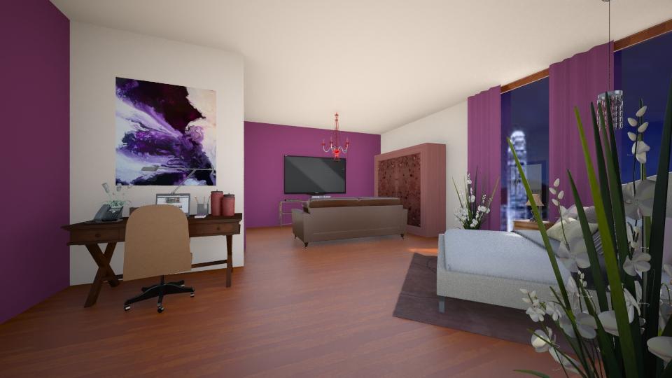 posh hotel room - Bedroom - by allday08