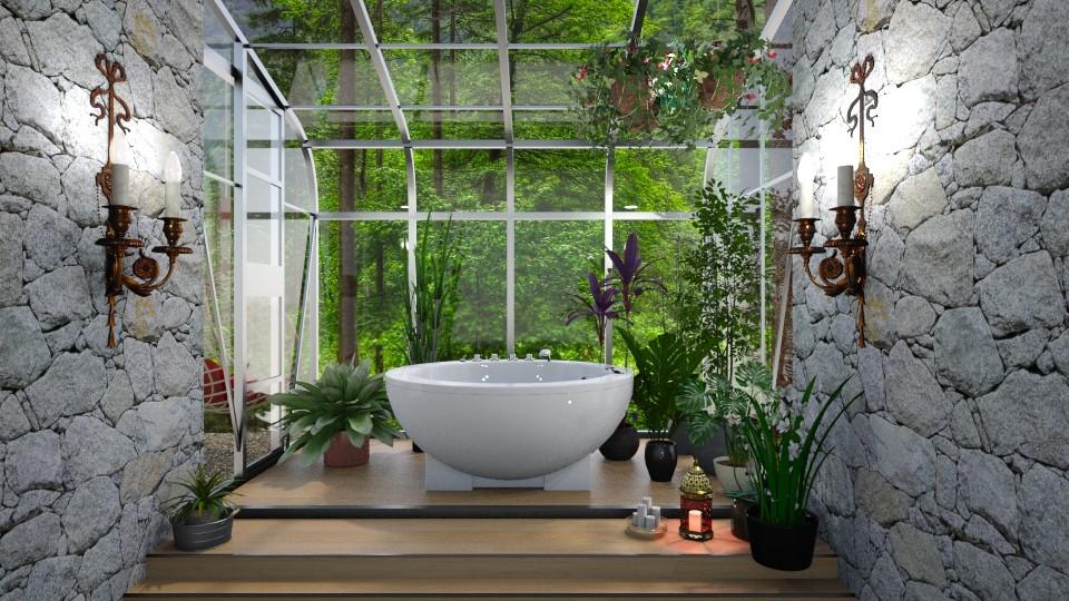 My green room  - Bathroom - by Ida Dzanovic