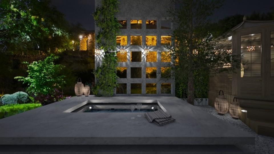 At night on Garden I - by ylenialeman