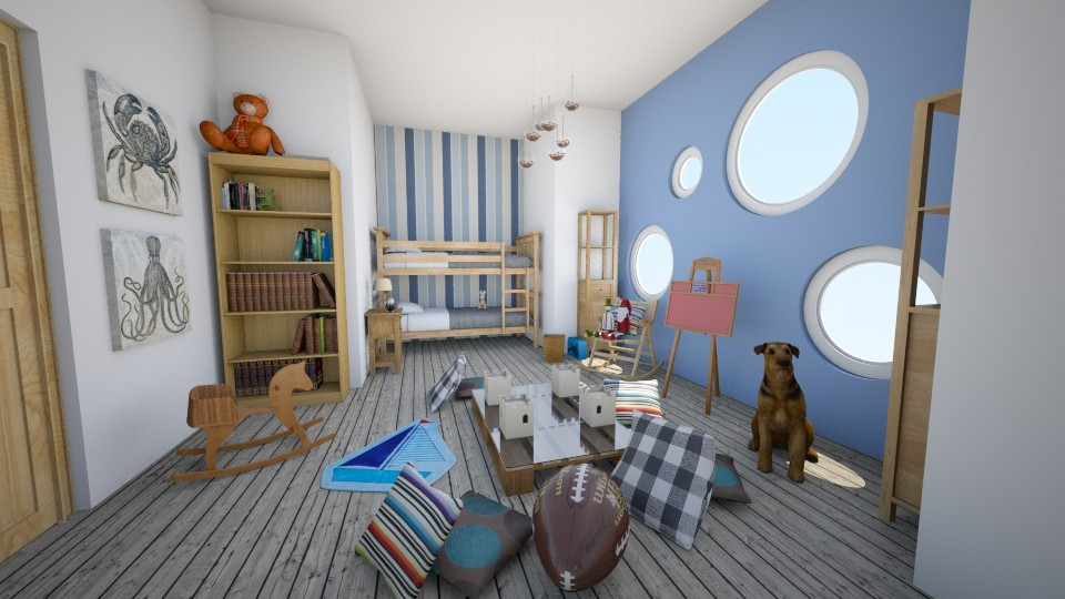 Little sailors' room - Kids room - by aniachoynowska