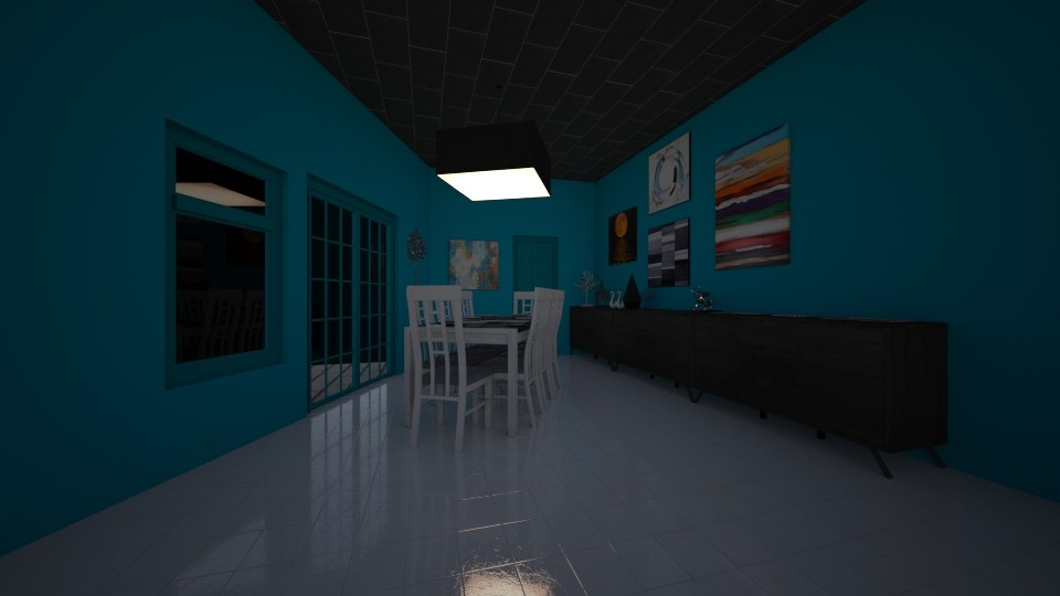 i - Dining room - by The cartoon fan