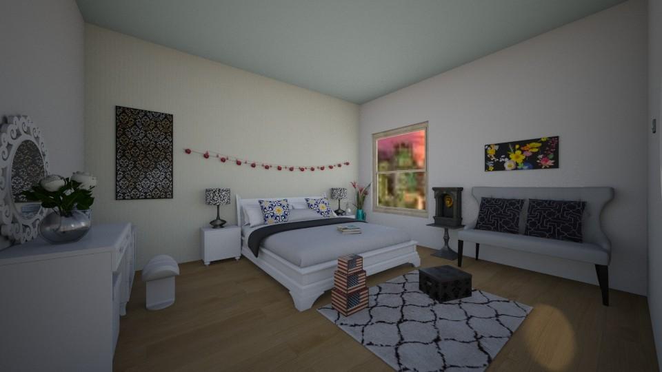 simple bedroom - by annawadood