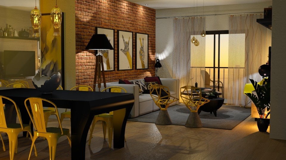Yellow Chairs - Living room - by Mariana Gooliveira
