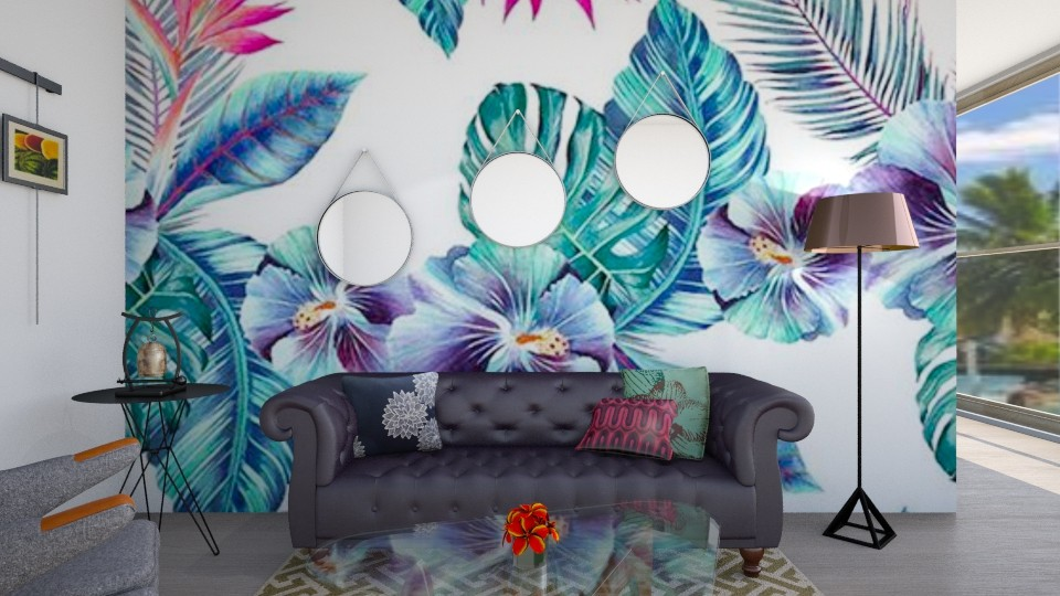 tropical - Living room - by wafaabdi