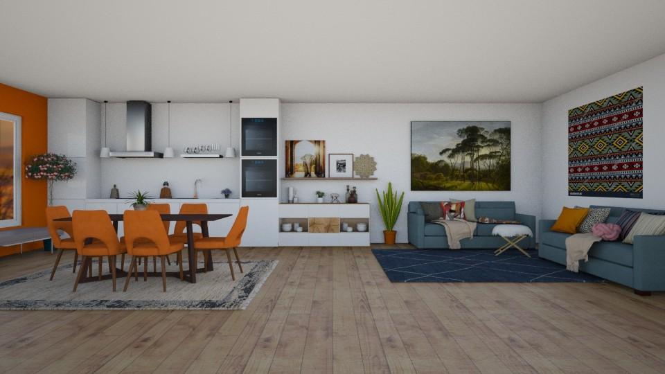 dinein kitchen living  - Dining room - by thomanjenna
