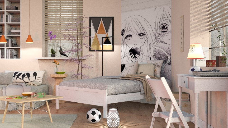 Teen Girl Room - Bedroom - by Sally Simpson