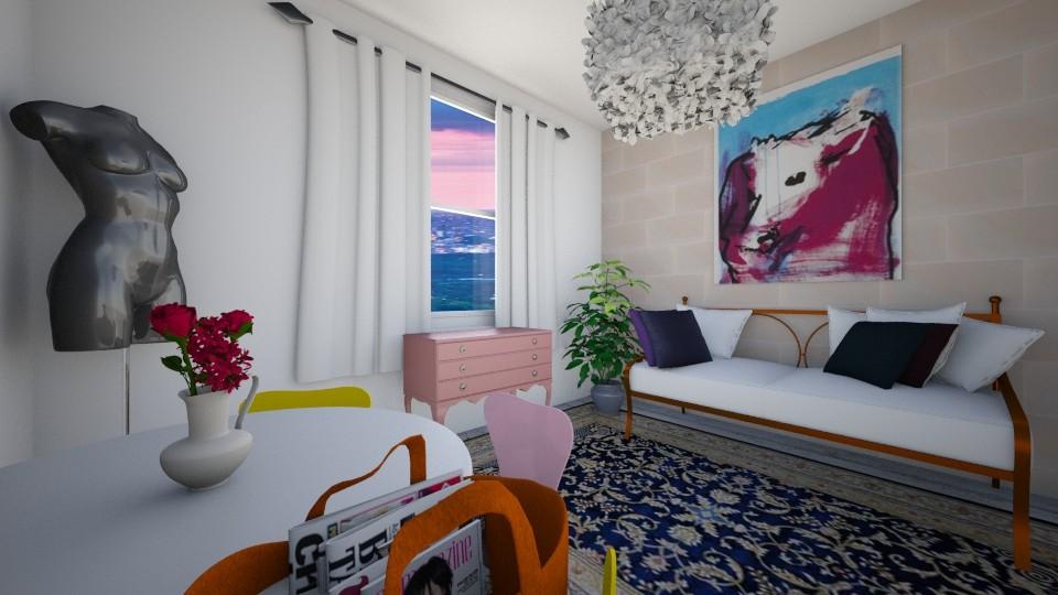 kawalerka - Modern - Living room - by MietazHerbata