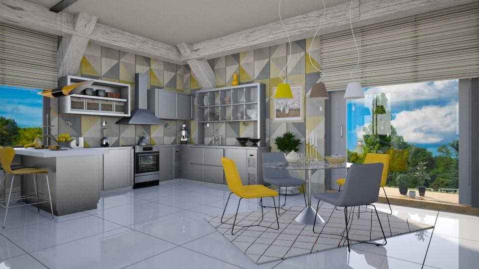 Modern Playful Kitchen - by ZsuzsannaCs