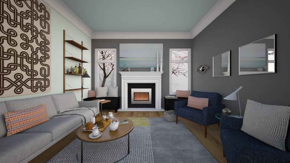 Foggy Morning  - Living room - by esherwood