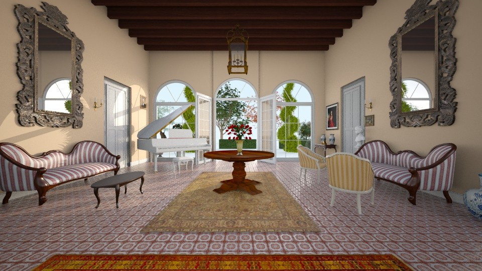 Italian Country Villa - Classic - Living room - by margesimpson2000