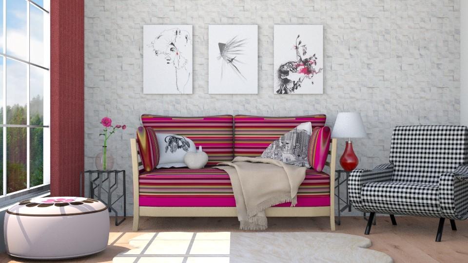 Tea rose - Living room - by Liu Kovac