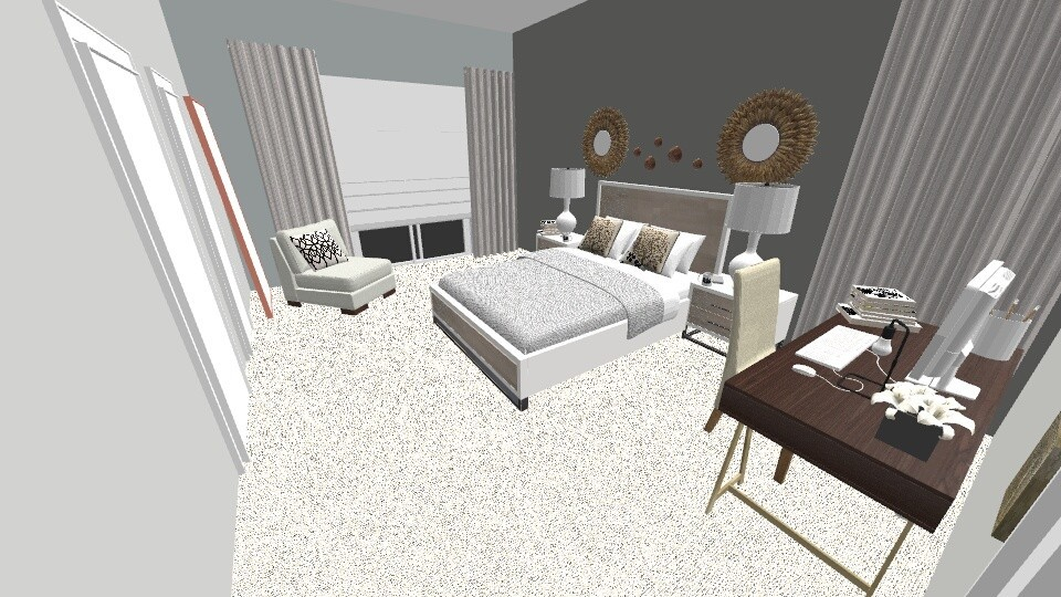 2nd Floor Master - Modern - Bedroom - by Anilu Oms