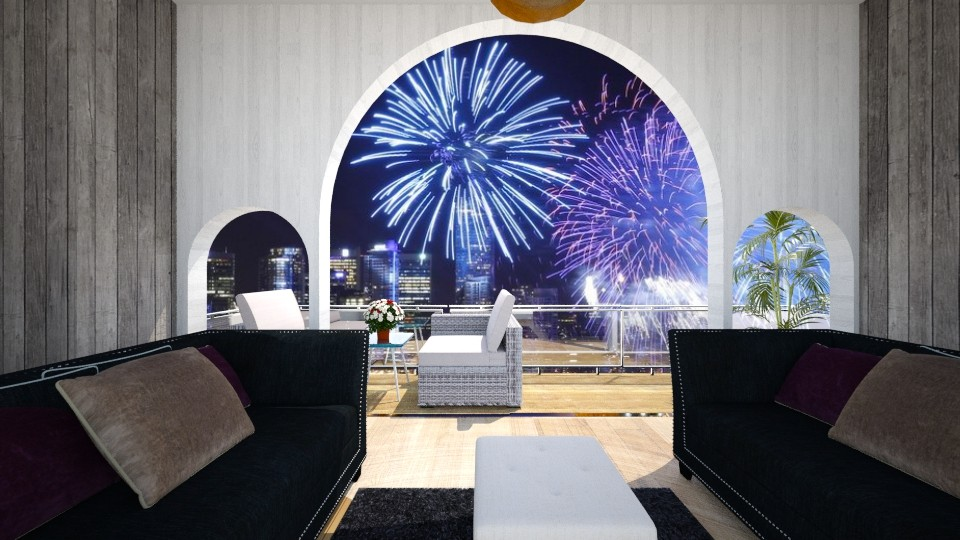 Happy new year 2017 - Living room - by jojoclik