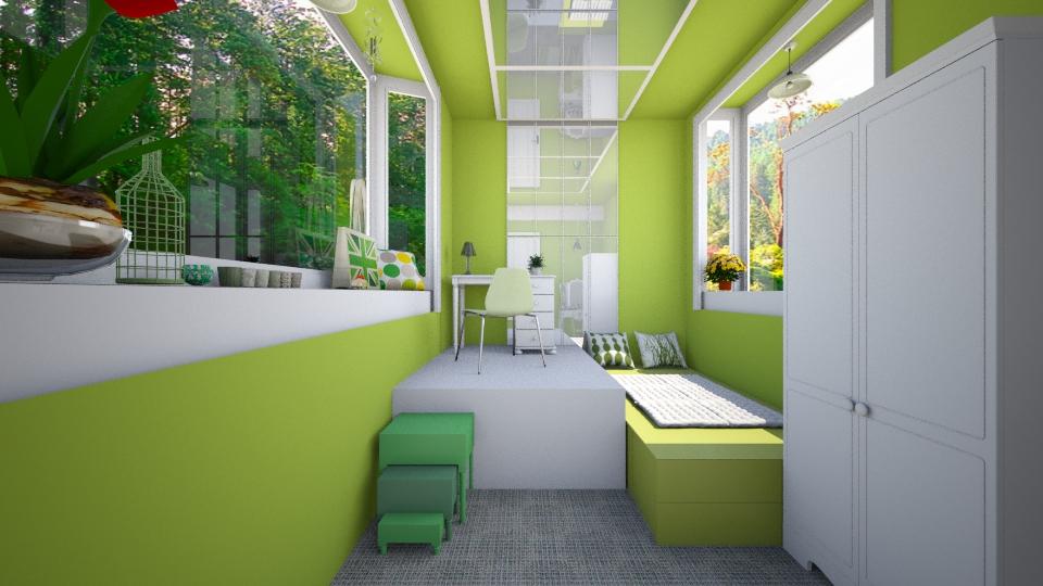 small green - Bedroom - by Ni NI