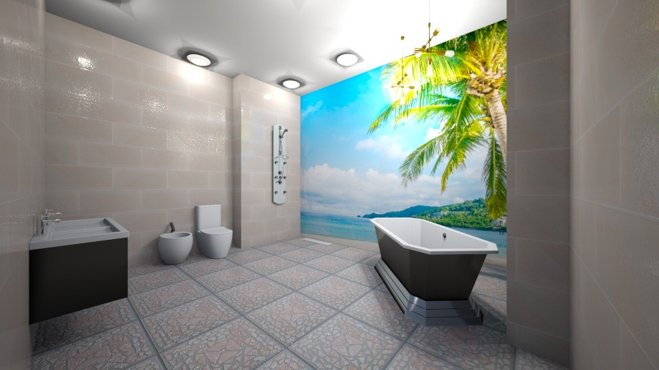 Tropical Dream Bathrrom - Bathroom - by jaiden2006