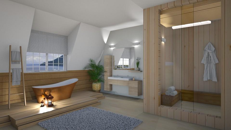 Wooden Bathroom - by ariema