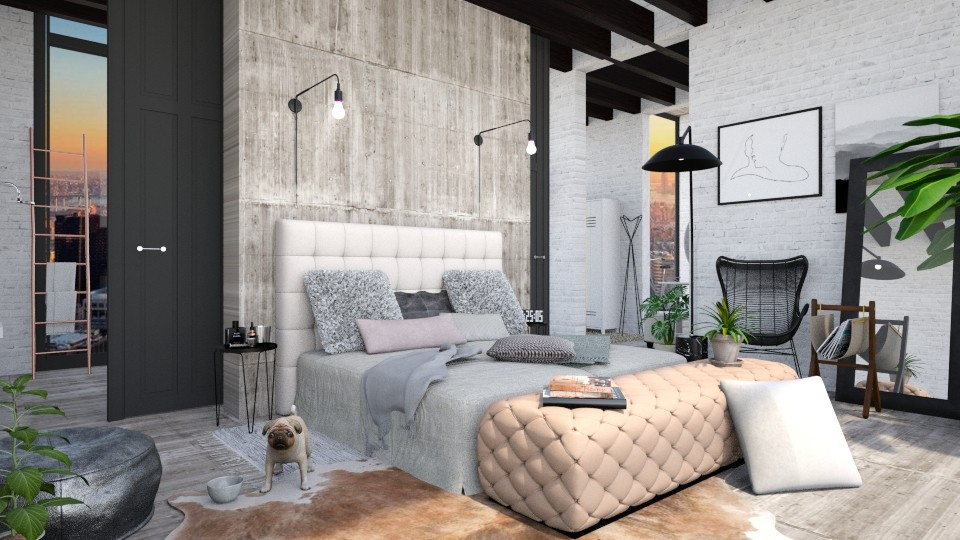 loft bedroom - Eclectic - Bedroom - by esmeegroothuizen