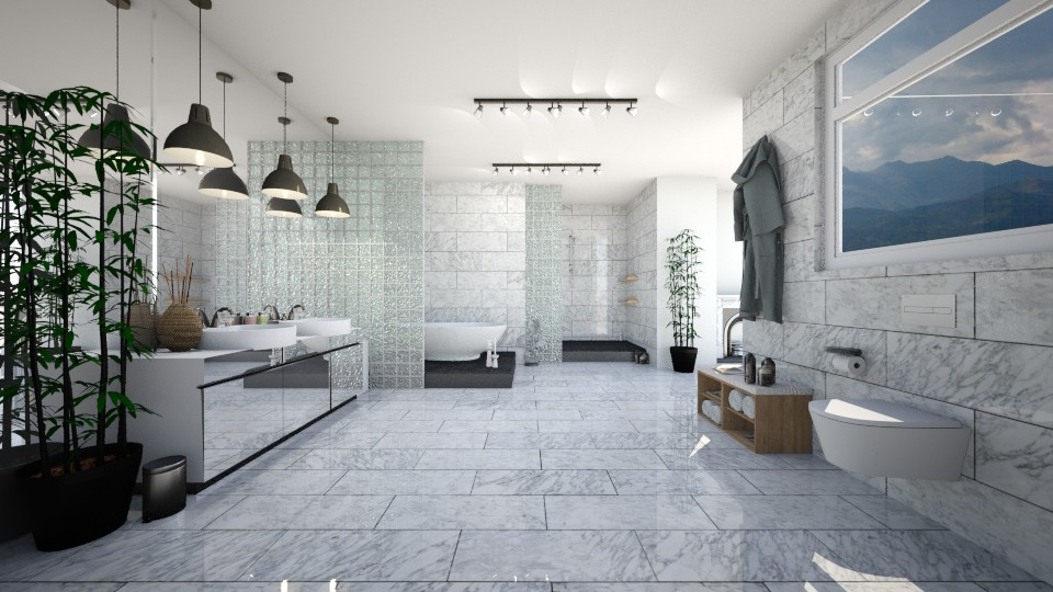 Marble madness - Bathroom - by evemorgan96