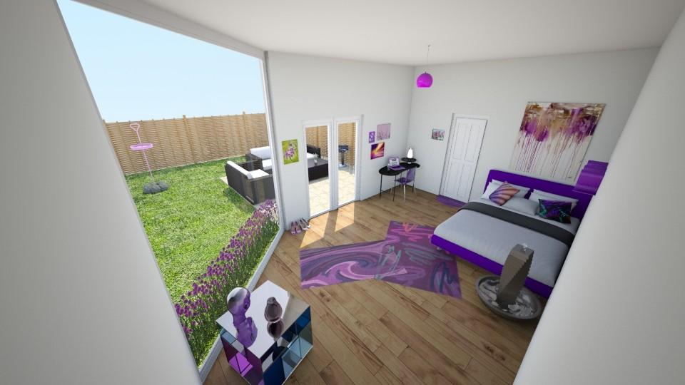 Purple Room - Bedroom - by makaylapeep