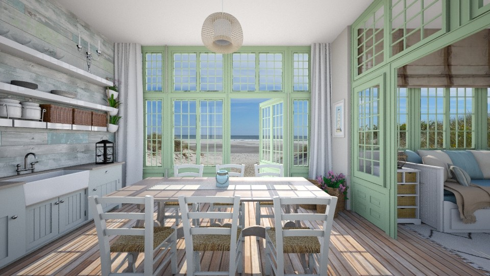 Green doors - Dining room - by Lizzy0715