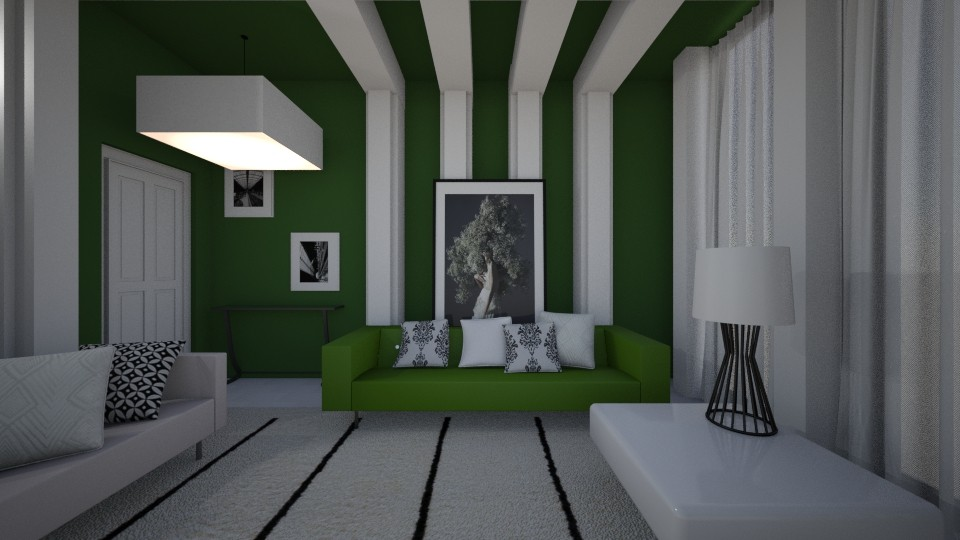 Forest White - Modern - Living room - by XiraFizade