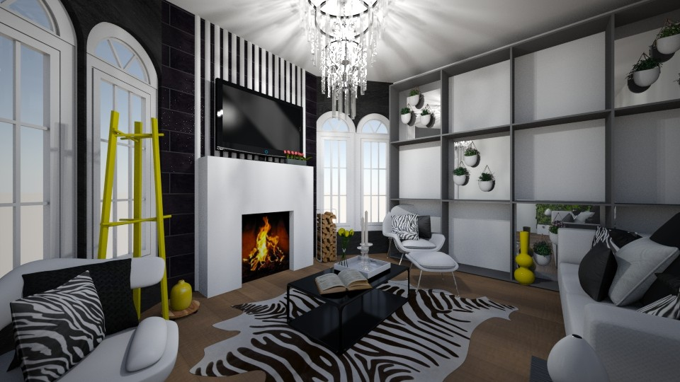 Sharp Living Room - Modern - Living room - by XiraFizade