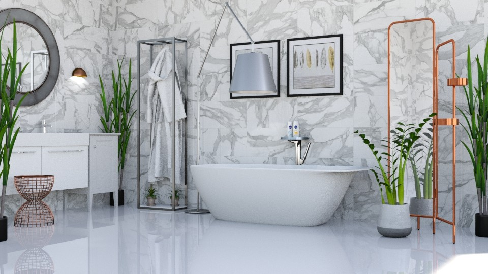 Touch of Copper - Modern - Bathroom - by millerfam