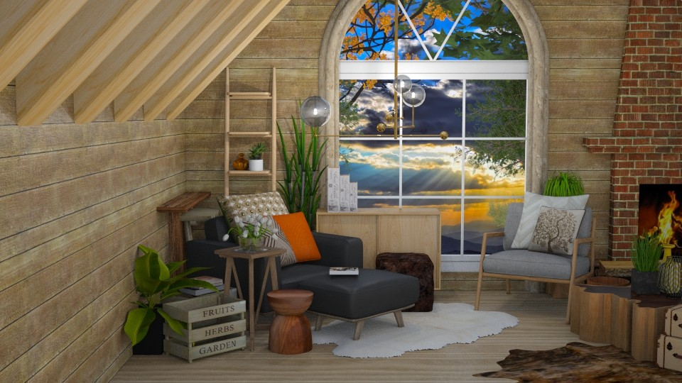 living wood - Living room - by Vlad Silviu