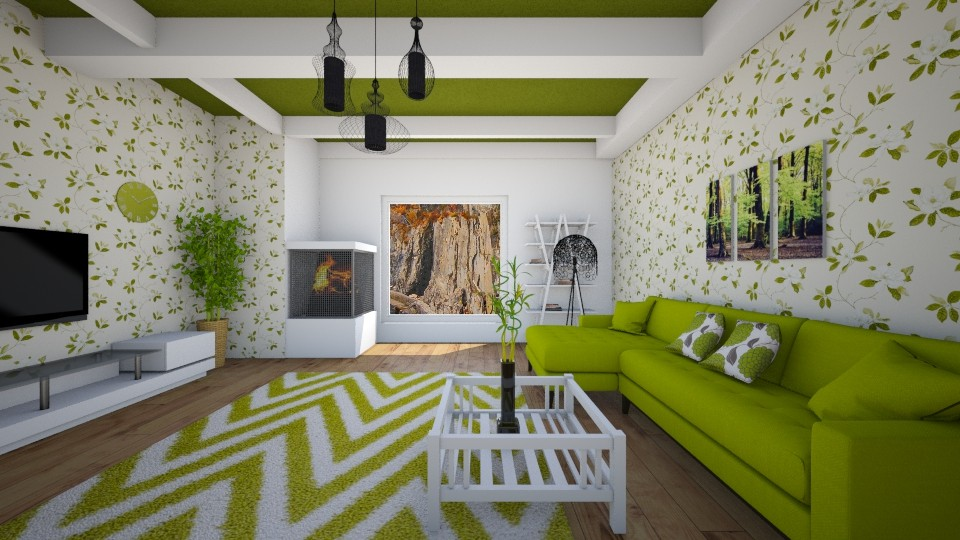 lime green - Living room - by sirtsu