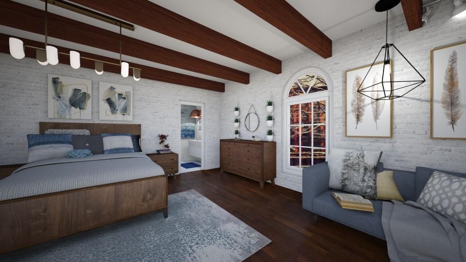 Blue Brick - Bedroom - by _xandra_