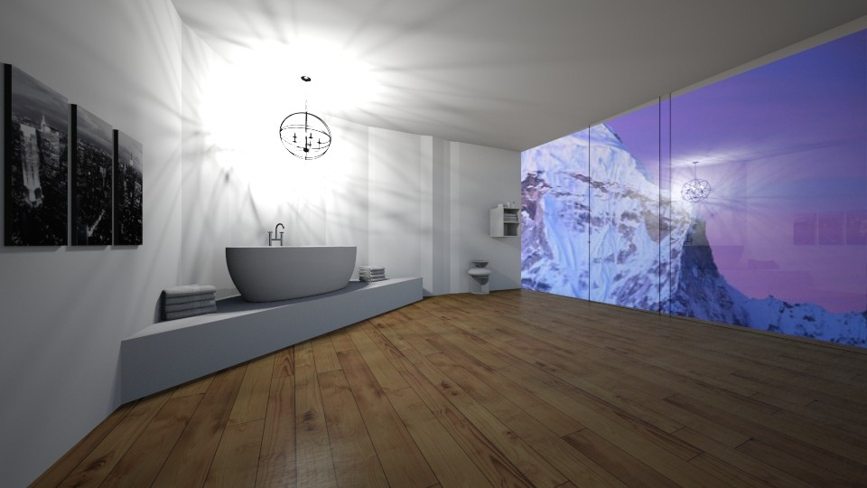 mountain bathroom  - Modern - Bathroom - by love room