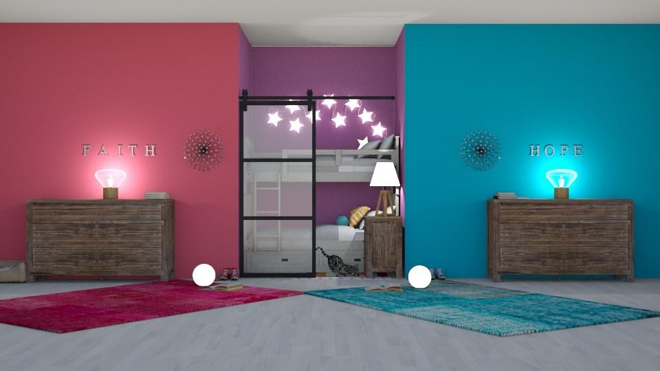 14 year old twins  - Bedroom - by Ellie665