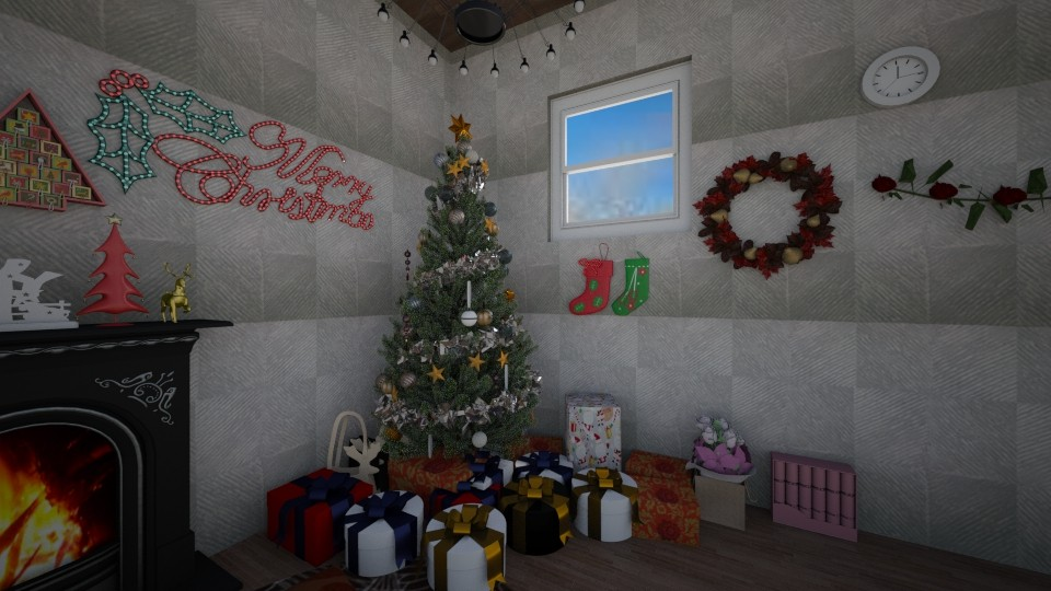 christmasy - Vintage - Living room - by AmySargeant2402