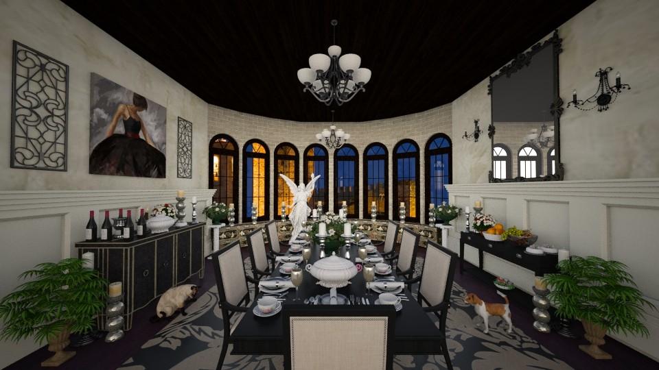 Dinner Party Elegance - Dining room - by lydiaenderlebell