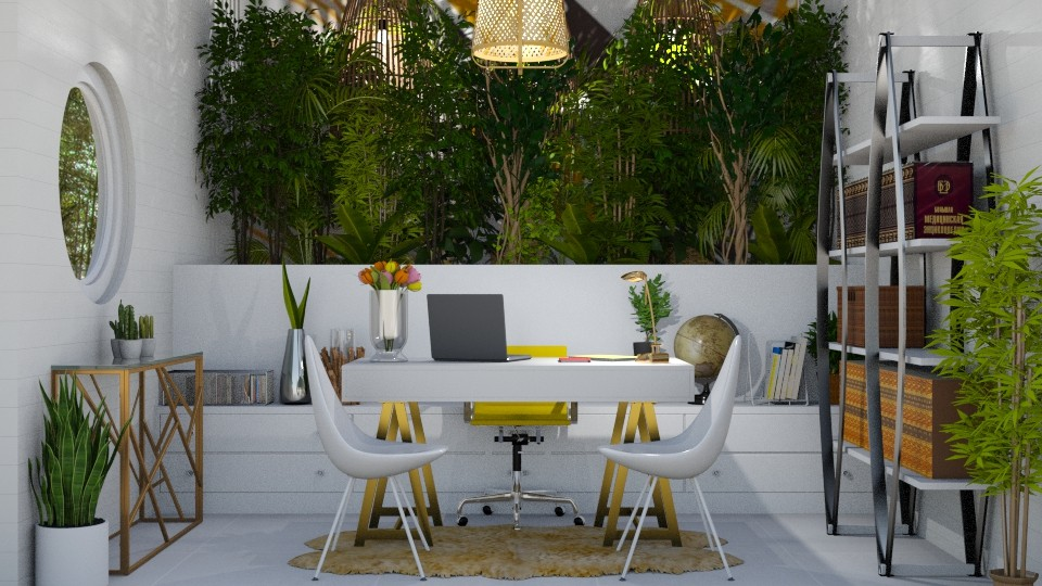 LIVING OFFICE WALL - Office - by KC Pechangco