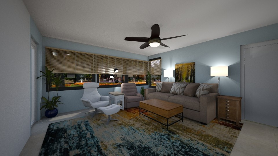 Living Room w porch sqft - Living room - by SherryDW