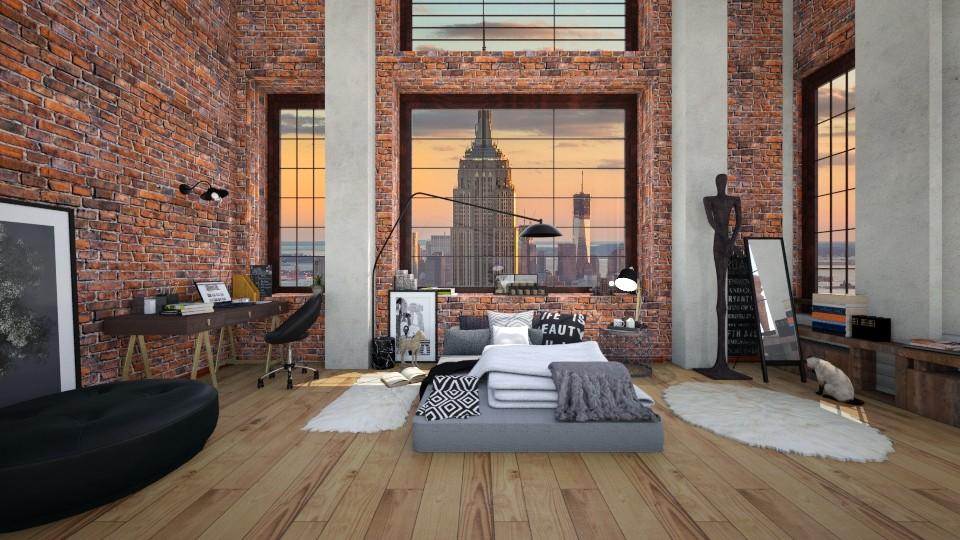 new york 3a - Bedroom - by Georgia Perrou