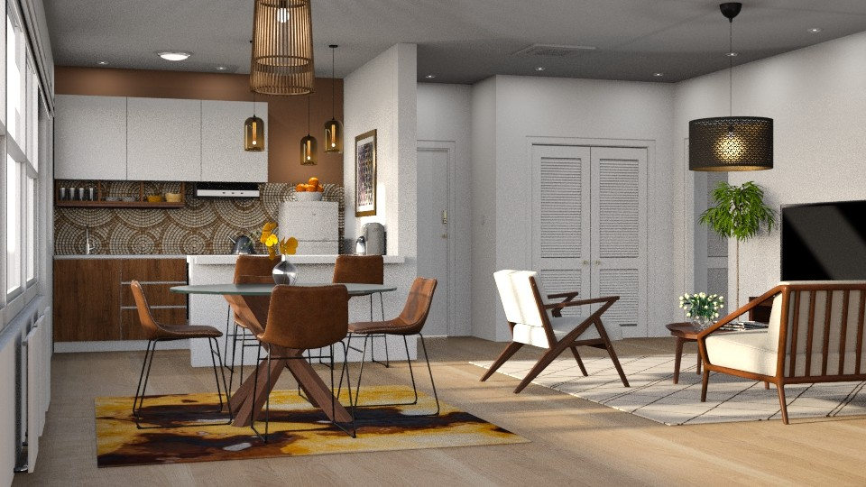 Expat Apt Living in Small Spaces 9 - Living room - by GraceKathryn