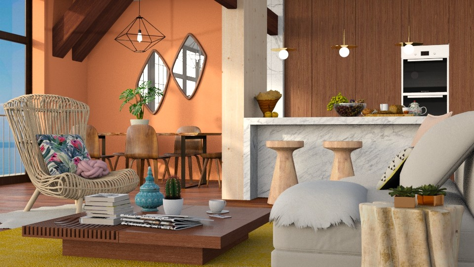 Wood wood wood - Living room - by DeborahArmelin